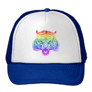 Striking Hand Drawn Rainbow Tiger Trucker Hat