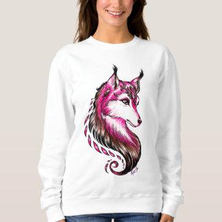 Striking Hand Drawn Wolf Women's Classic Sweater