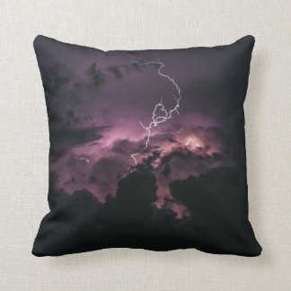Striking Lightning Strike Throw Pillow
