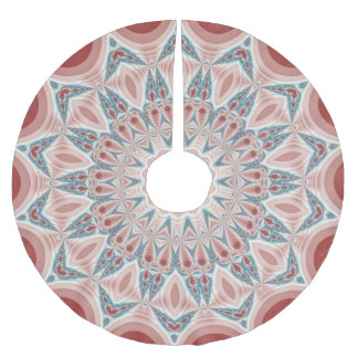 Striking Modern Kaleidoscope Mandala Fractal Art Brushed Polyester Tree Skirt