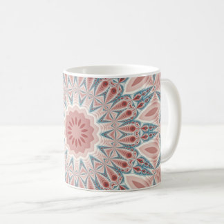 Striking Modern Kaleidoscope Mandala Fractal Art Coffee Mug