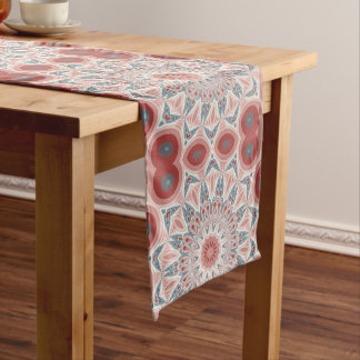 Striking Modern Kaleidoscope Mandala Fractal Art Long Table Runner