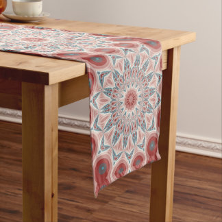 Striking Modern Kaleidoscope Mandala Fractal Art Medium Table Runner
