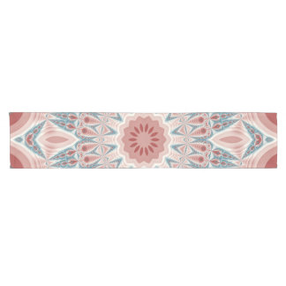 Striking Modern Kaleidoscope Mandala Fractal Art Short Table Runner