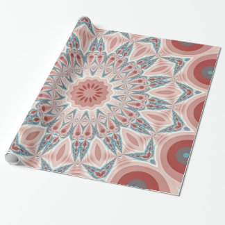 Striking Modern Kaleidoscope Mandala Fractal Art Wrapping Paper