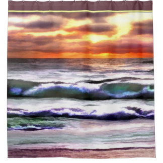 Striking Ocean Sunset at the Beach