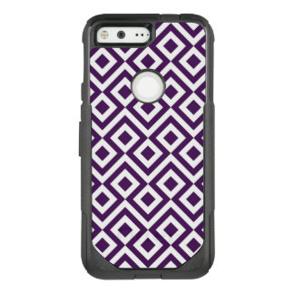 Striking Purple and White Meander OtterBox Commuter Google Pixel Case