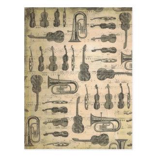 string and brass postcard
