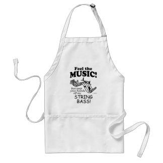 String Bass Feel The Music Apron