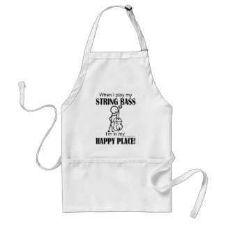 String Bass Happy Place Apron