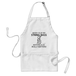 String Bass Nothing Else Matters Aprons