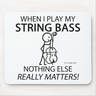 String Bass Nothing Else Matters Mouse Pad
