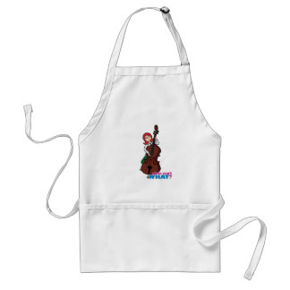 String Bass Player Girl - Light/Red Aprons