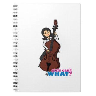 String Bass Player Girl - Medium Notebooks