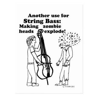 String Bass Zombie Explode Postcard