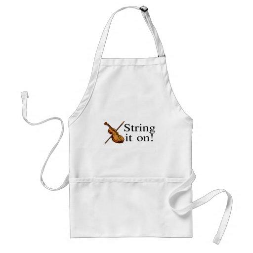 String It On Violin Apron