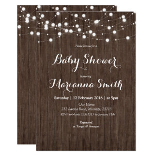 String Light Baby Shower Invitation