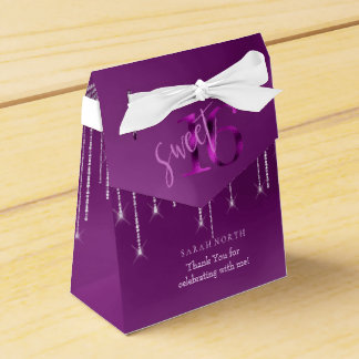 String Lights & Balloons Sweet 16 Orchid ID473 Favor Box