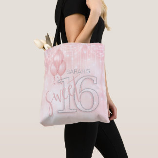 String Lights & Balloons Sweet 16 Rose Gold ID473 Tote Bag