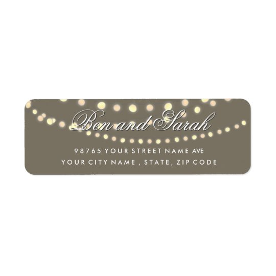 String Lights | Bistro Light Return Address Labels