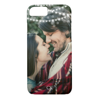 String Lights Custom Photo & Monogram Case-Mate iPhone Case