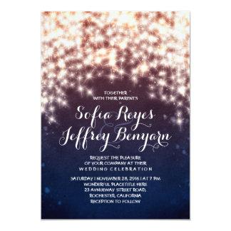String lights glitter shining wedding invitations invites