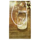 String Lights Mason Jar Rustic Wedding Small Gift Bag