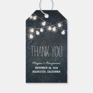 String Lights Night Stars Wedding Pack Of Gift Tags