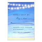 String lights on the water RSVP Card