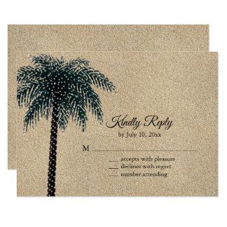 String Lights Palm Tree RSVP Beach Sand Card