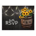 String Lights Rustic Vineyard Sunflower RSVP Postcard