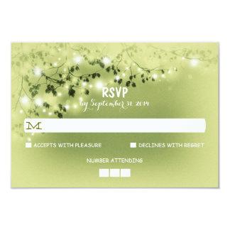 String Lights Rustic Wedding RSVP Cards