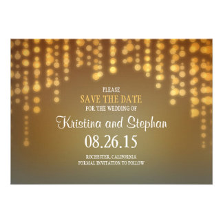 string lights SAVE THE DATE cards