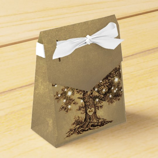 string lights tree old rustic wedding favour box