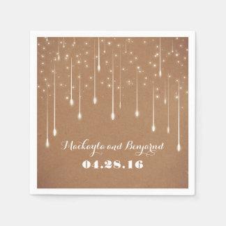String Lights Wedding Modern Disposable Napkin
