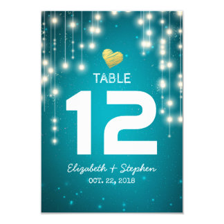 String Lights Wedding Seating Place Table Number