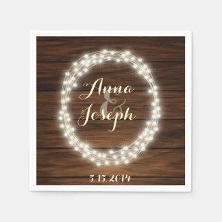 String lights wreath napkins paper napkin