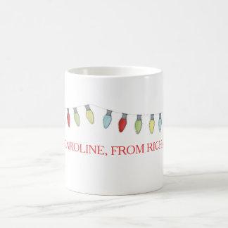 String of Christmas  Lights Editable Mug