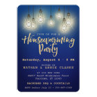 String Of Glowing Lights | Housewarming Party Card