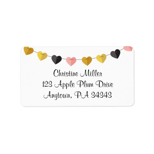 String of Hearts Label