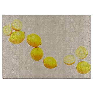 String of Lemons On Vintage Background Boards
