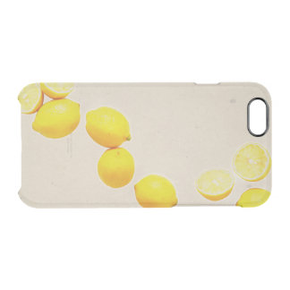 String of Lemons On Vintage Background Clear iPhone 6/6S Case