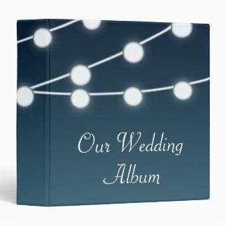 String Of Lights Aglow Romantic Wedding Binder