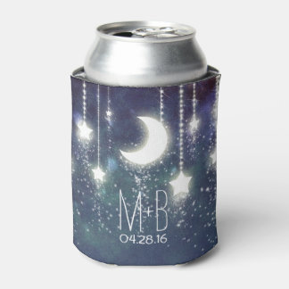 String of Lights Night Stars Moon Can Cooler
