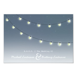 String of Lights Outdoor Evening Wedding R.S.V.P. Card