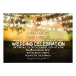 string of lights rustic wedding invitation invitation