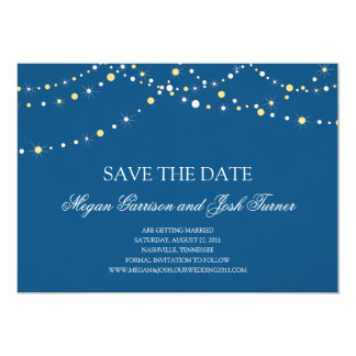"String of Lights Save the Date 5"" X 7"" Invitation Card"