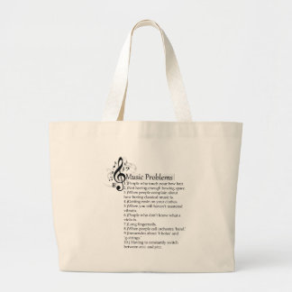 String problems list large tote bag
