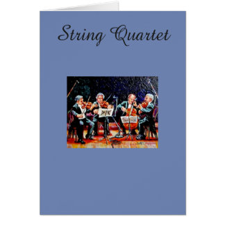 String Quartet Card