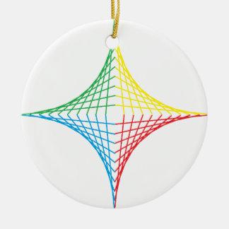 String Star Ceramic Ornament